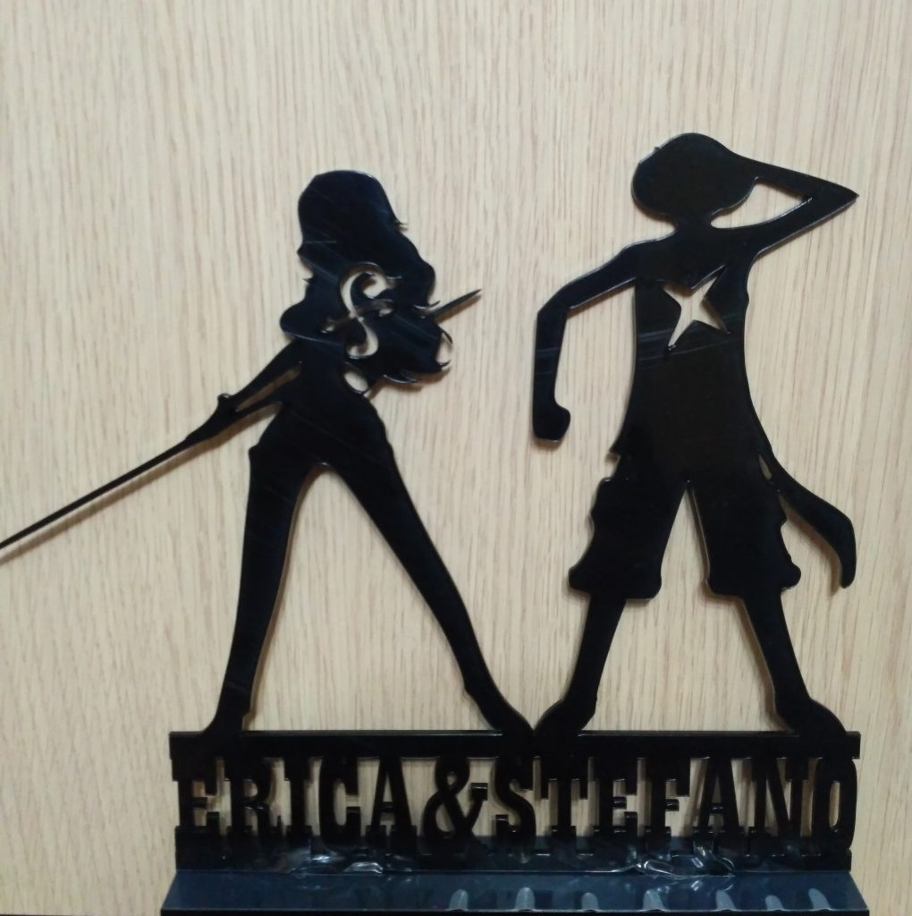 cake topper nero One Piece