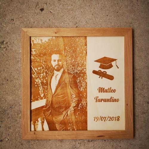 foto incisa su legno