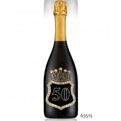 bottiglia di prosecco personalizzata per cerimonie di 50 anni