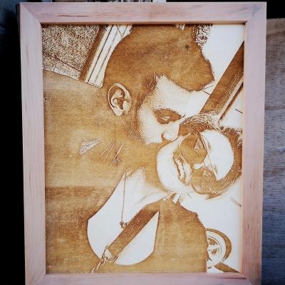 foto su legno per cerimonie