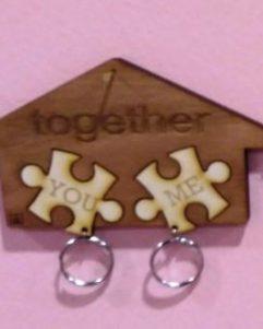 bomboniera portachiavi a casetta con puzzle