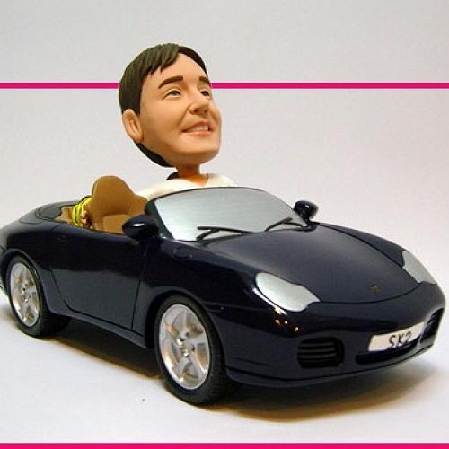 statuine personalizzate in resina uomo in Porsche