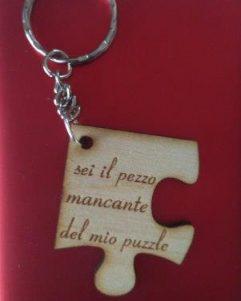regalo per san-valentino portachiavi a puzzle
