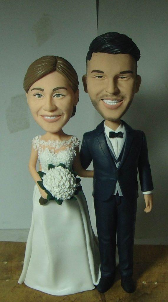 statuine sposi in argilla