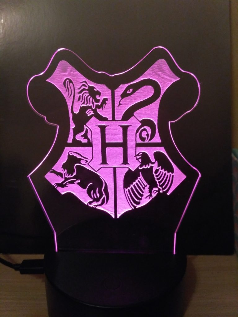 lampade a led Harry Potter Hogwarts viola