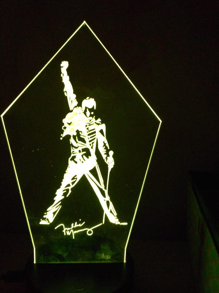 lampade a led Freddie Mercury luce bianca