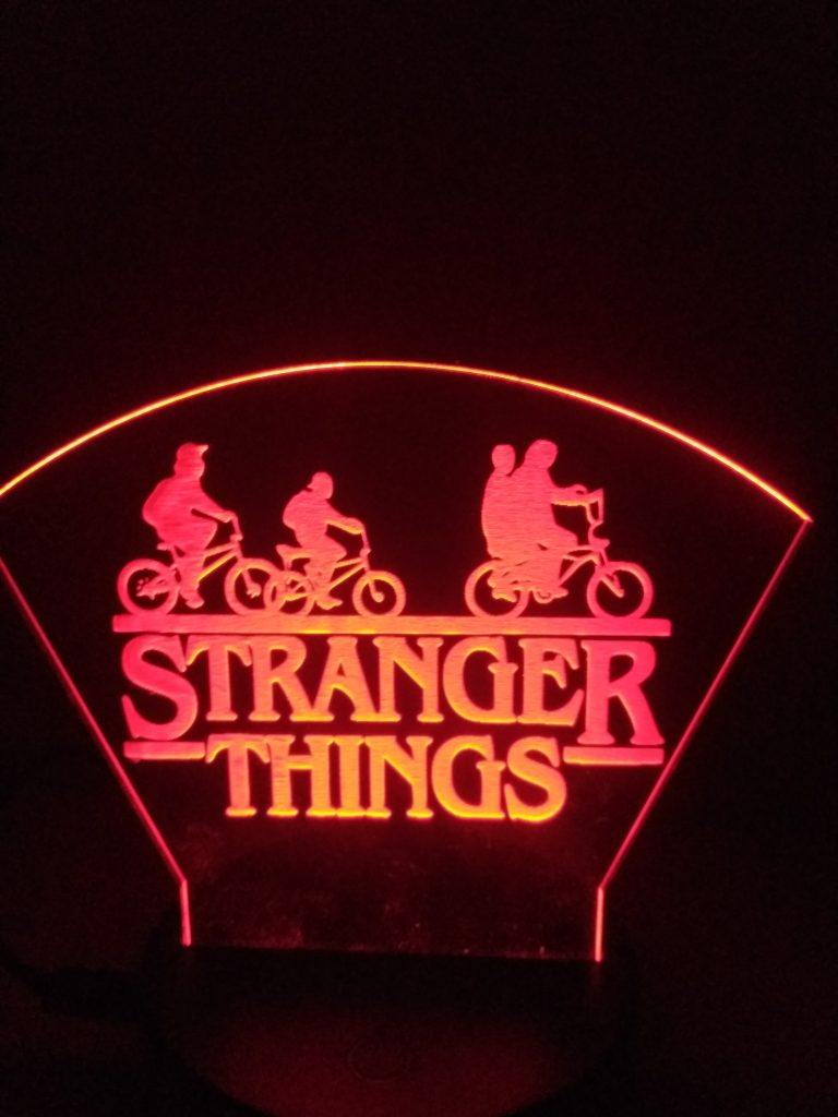 lampade a led stranger things rossa
