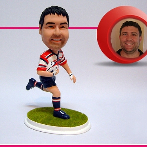 statuine personalizzate in resina giocatore rugby