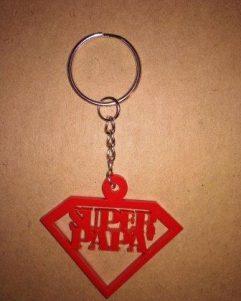 portachiavi rosso festa del papà super papà
