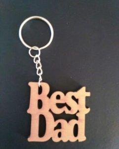 regalo per festa del papà, best dad portachiavi