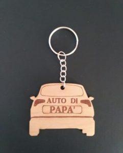 portachiavi in legno per auto per festa del papà