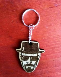 portachiavi in legno Walter White Breaking bad