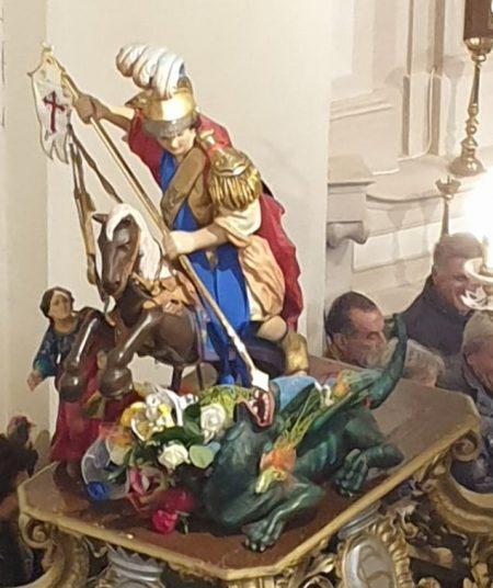 statua sacra originale di San Giorgio