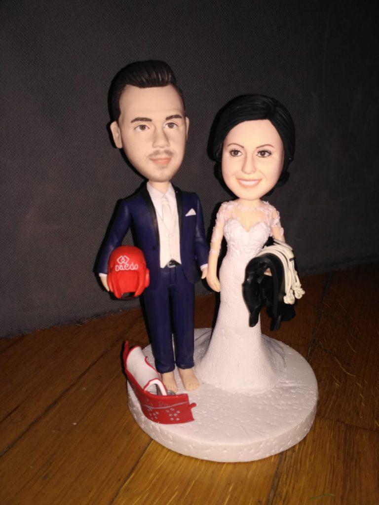 cake topper sposi di atleta e avvocatessa