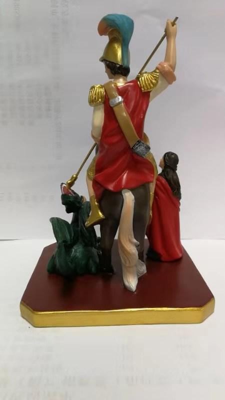 statuetta sacra di San Giorgio