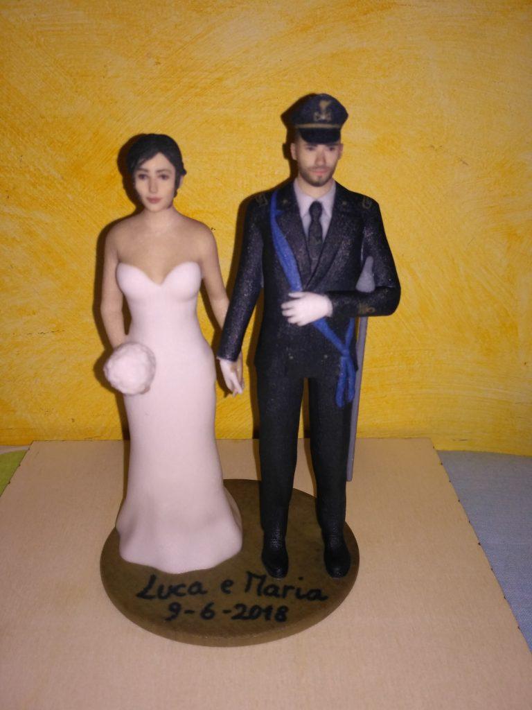 statuine personalizzate di sposi in 3D