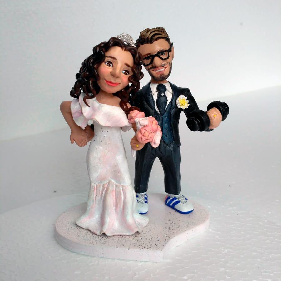 cake topper sposi in fimo