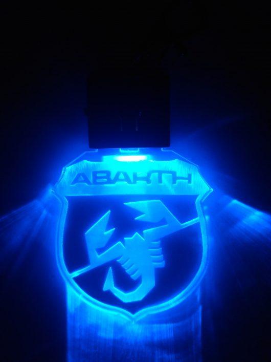 portachiavi abarth con led blu