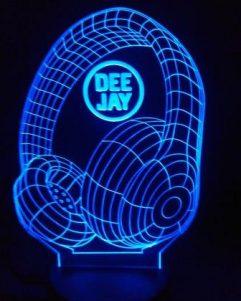 idea regalo per DJ lampada blu 3D