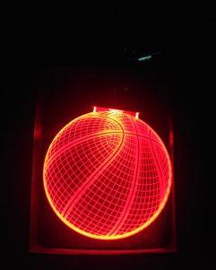 portachiavi basket luce rossa