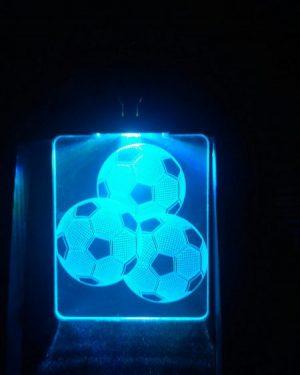 portachiavi luminoso calcio