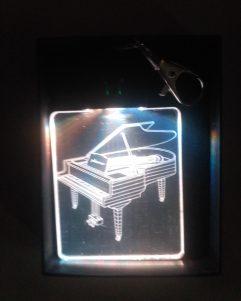 portachiavi pianoforte luminoso