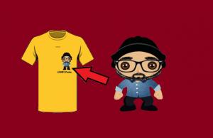 t-shirt funko personalizzato gialla